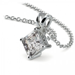 Asscher Diamond Solitaire Pendant in White Gold (1 ctw)  | Thumbnail 03