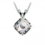 Asscher Diamond Solitaire Pendant in White Gold (2 ctw)  | Thumbnail 01