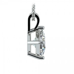Asscher Diamond Solitaire Pendant in White Gold (2 ctw)  | Thumbnail 02