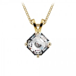 Asscher Diamond Solitaire Pendant in Yellow Gold (1 ctw)  | Thumbnail 01