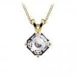 Asscher Diamond Solitaire Pendant in Yellow Gold (1 ctw)  | Thumbnail 01