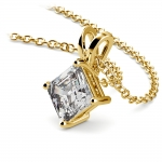 Asscher Diamond Solitaire Pendant in Yellow Gold (1 ctw)  | Thumbnail 03