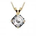 Asscher Diamond Solitaire Pendant in Yellow Gold (2 ctw)  | Thumbnail 01