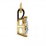 Asscher Diamond Solitaire Pendant in Yellow Gold (2 ctw)  | Thumbnail 02