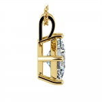 Asscher Diamond Solitaire Pendant in Yellow Gold (3 ctw)  | Thumbnail 02