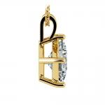 Asscher Diamond Solitaire Pendant in Yellow Gold (3 ctw)    Thumbnail 02