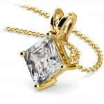 Asscher Diamond Solitaire Pendant in Yellow Gold (3 ctw)  | Thumbnail 03
