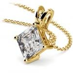 Asscher Diamond Solitaire Pendant in Yellow Gold (3 ctw)    Thumbnail 03