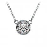 Bezel Diamond Solitaire Pendant in Platinum (1 1/2 ctw) | Thumbnail 01