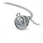 Bezel Diamond Solitaire Pendant in Platinum (1/2 ctw) | Thumbnail 03