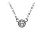 Bezel Diamond Solitaire Pendant in Platinum (1/4 ctw) | Thumbnail 01