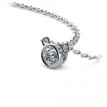 Bezel Diamond Solitaire Pendant in Platinum (1/4 ctw) | Thumbnail 03