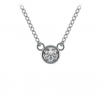 Bezel Diamond Solitaire Pendant in Platinum (1/5 ctw) | Thumbnail 01