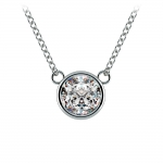 Bezel Diamond Solitaire Pendant in Platinum (1 ctw) | Thumbnail 01