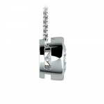 Bezel Diamond Solitaire Pendant in Platinum (2 ctw) | Thumbnail 02