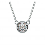 Bezel Diamond Solitaire Pendant in Platinum (3/4 ctw) | Thumbnail 01