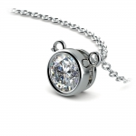 Bezel Diamond Solitaire Pendant in Platinum (3/4 ctw) | Thumbnail 03