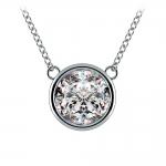 Bezel Diamond Solitaire Pendant in Platinum (3 ctw) | Thumbnail 01