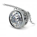 Bezel Diamond Solitaire Pendant in Platinum (3 ctw) | Thumbnail 03