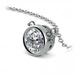 Bezel Diamond Solitaire Pendant in White Gold (1 1/2 ctw) | Thumbnail 03