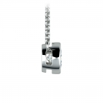 Bezel Diamond Solitaire Pendant in White Gold (1/2 ctw) | Thumbnail 02