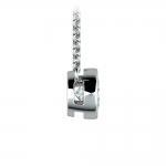 Bezel Diamond Solitaire Pendant in White Gold (1/2 ctw) | Thumbnail 02