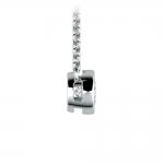 Bezel Diamond Solitaire Pendant in White Gold (1/3 ctw) | Thumbnail 02