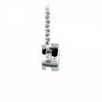 Bezel Diamond Solitaire Pendant in White Gold (1/3 ctw) | Thumbnail 02