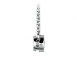 Bezel Diamond Solitaire Pendant in White Gold (1/4 ctw) | Thumbnail 02