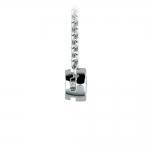 Bezel Diamond Solitaire Pendant in White Gold (1/5 ctw) | Thumbnail 02