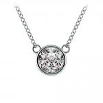 Bezel Diamond Solitaire Pendant in White Gold (1 ctw) | Thumbnail 01