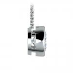Bezel Diamond Solitaire Pendant in White Gold (2 ctw) | Thumbnail 02