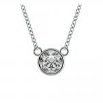 Bezel Diamond Solitaire Pendant in White Gold (3/4 ctw) | Thumbnail 01