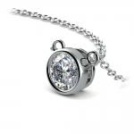 Bezel Diamond Solitaire Pendant in White Gold (3/4 ctw) | Thumbnail 03