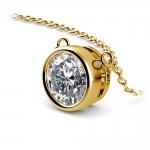 Bezel Diamond Solitaire Pendant in Yellow Gold (2 ctw) | Thumbnail 03
