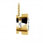 Bezel Diamond Solitaire Pendant in Yellow Gold (3 ctw) | Thumbnail 02