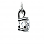 Round Diamond Solitaire Pendant in Platinum (1 1/2 ctw) | Thumbnail 02