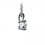 Round Diamond Solitaire Pendant in Platinum (1/2 ctw) | Thumbnail 02