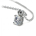 Round Diamond Solitaire Pendant in Platinum (1/3 ctw) | Thumbnail 03
