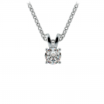 Round Diamond Solitaire Pendant in Platinum (1/4 ctw) | Thumbnail 01