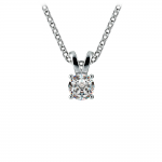 Round Diamond Solitaire Pendant in Platinum (1/5 ctw) | Thumbnail 01
