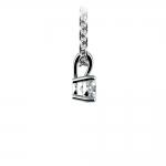 Round Diamond Solitaire Pendant in Platinum (1/5 ctw)   Thumbnail 02