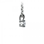 Round Diamond Solitaire Pendant in Platinum (1/5 ctw) | Thumbnail 02
