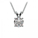 Round Diamond Solitaire Pendant in Platinum (1 ctw) | Thumbnail 01
