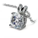 Round Diamond Solitaire Pendant in Platinum (2 ctw) | Thumbnail 03