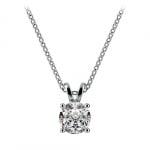 Round Diamond Solitaire Pendant in Platinum (3/4 ctw) | Thumbnail 01