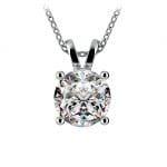 Round Diamond Solitaire Pendant in Platinum (3 ctw)   Thumbnail 01