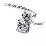 Round Diamond Solitaire Pendant in White Gold (1/2 ctw) | Thumbnail 03