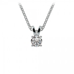 Round Diamond Solitaire Pendant in White Gold (1/3 ctw) | Thumbnail 01