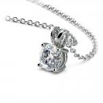 Round Diamond Solitaire Pendant in White Gold (1/3 ctw) | Thumbnail 03